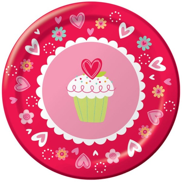 Valentine Sweets Lunch Plates 8pkg PartyCheap