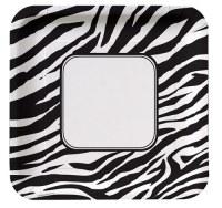 Zebra Print Dinner Plates - PartyCheap