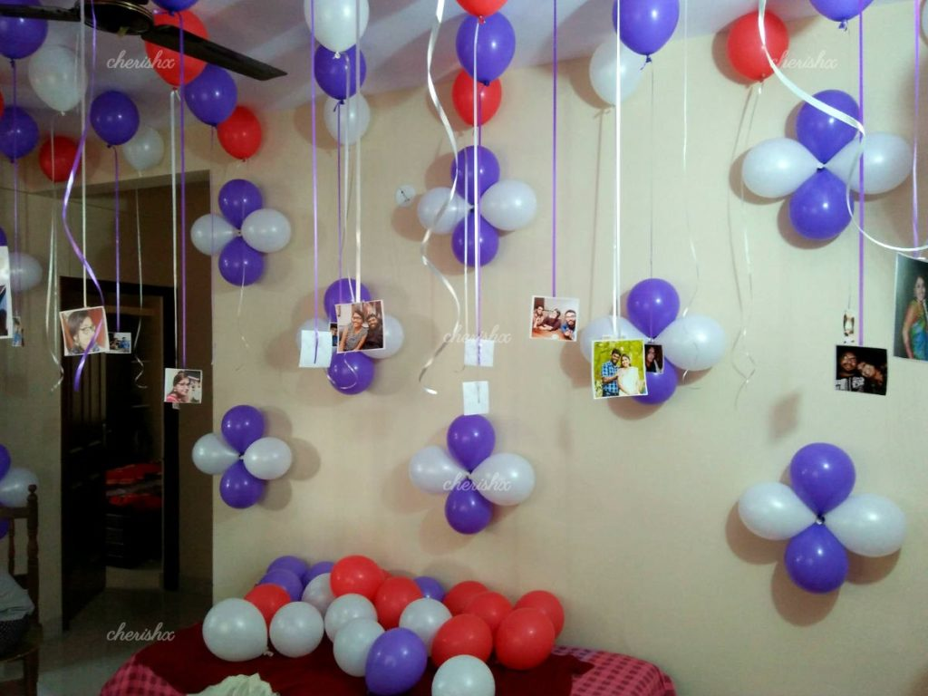 Simple Birthday Party Decoration Balloon Decoration At Home Ideas Bellona Koltuk Takimlari