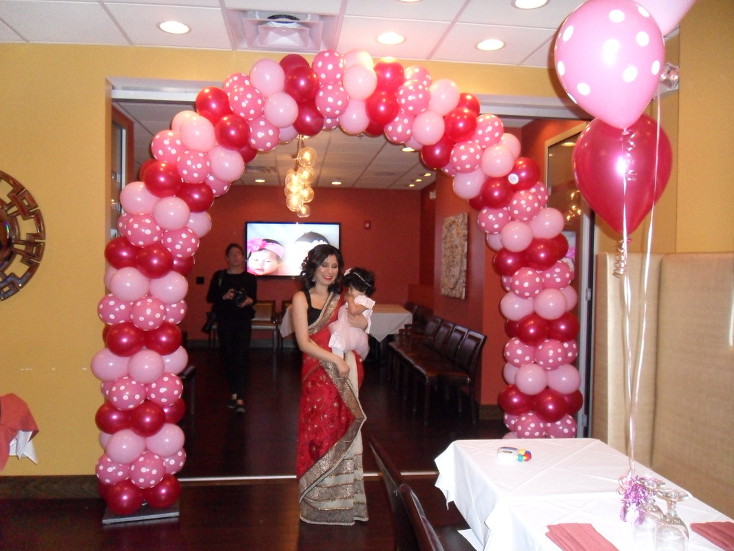 MAGENTA ROSE POLKA DOTS AND LT PINK PARTY PARTY