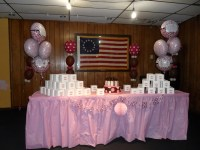 BABY SHOWER: BROWN, PINK AND WHITE - PARTY DECORATIONS BY ...
