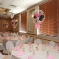 Each guest table had a minnie mouse double bubble balloon with a small