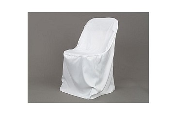 white folding chair covers brown leather dining polyester cover party depot