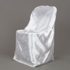 White Folding Chair Covers Teal Blue Satin Cover Party Depot