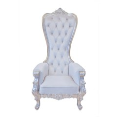 Throne Chair Cover Antique Rocking Leather Seat Baroque Party Depot Snow White