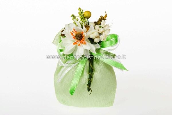 Sacchetto Piccolo Moire Verde (10 pz)-0