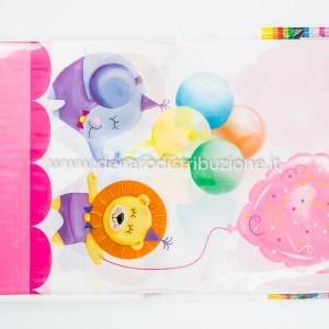 Tovaglia Compleanno 1 Anno Bambina / Baby Girl 140X240 cm-0