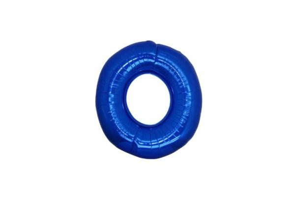 "Numero 0 Foil Gigante H 40""/100 cm. Blu (5 pezzi)-0"