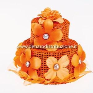 Torta con strass Arancio (6 pezzi) STOCK-0