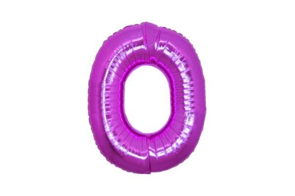 "Numero 0 Foil Gigante H 40""/100 cm. Fuxia (5 pezzi)-0"