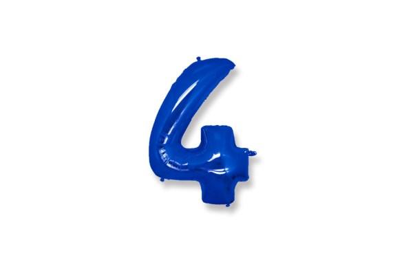 """Numero 4 Foil Gigante H 40""""/102 cm Blu (5 pz)-0"""