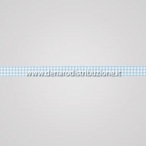 Nastro quadretti Azzurro mm15-0