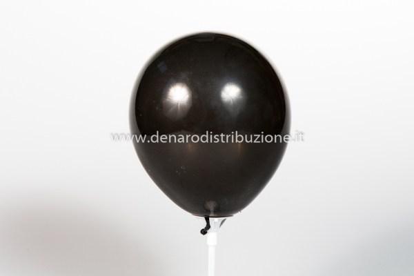 """Palloncino Tondo Nero Pastello 5""""/13 cm. (100 Pezzi)-0"""