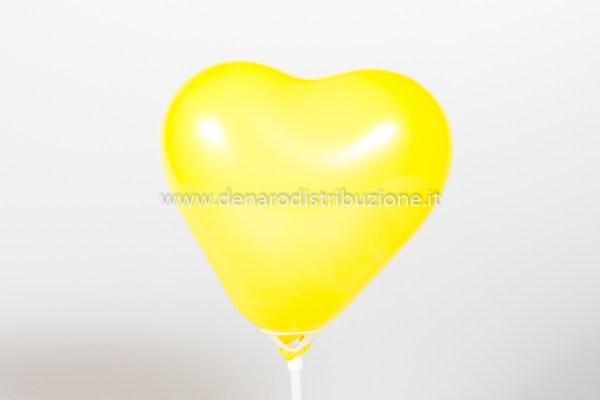 """Palloncino Cuore Giallo Pastello 5""""/13 cm. (100 Pezzi)-0"""