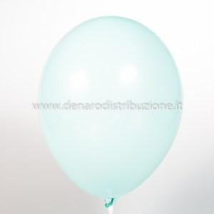 """Palloncino Tondo Acquamarina Pastello 12""""/30 cm. (100 Pezzi)-0"""