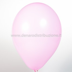 """Palloncino Tondo Rosa Pastello 12""""/30 cm. (100 Pezzi)-0"""