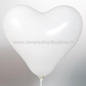 """Palloncino Cuore Bianco 12""""/30,5 cm. (100 Pezzi)-0"""