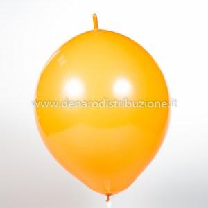 """Palloncino Tondo Link Arancione Pastello 14""""/35 cm. (100 Pezzi)-0"""