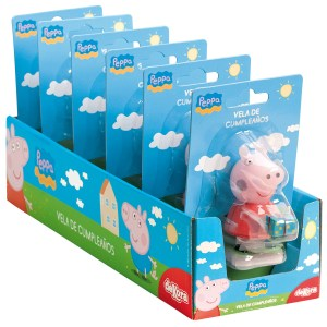 Peppa Pig Candeline Compleanno / 6 pezzi-0