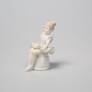 Ballerina in porcellana su sgabello h 11 cm (4 pz)-0