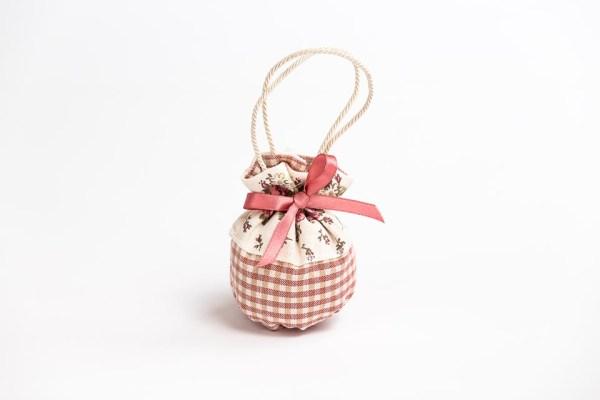 sacchetto bomboniera borsetta puffo piccolo con manico in cordoncino linea miro(10 pz) STOCK-0