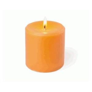 Candela profumata cero h. 7,5 colore arancio-0