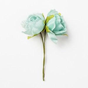 Rosa assortita colore azzurro Diam. 5 cm (12 pz)-0