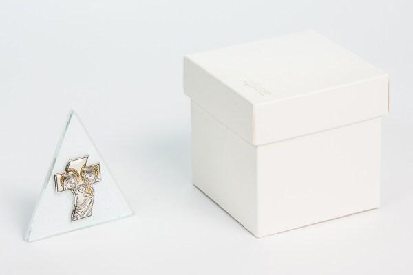 Icona bomboniera con immagine della sacra famiglia con scatola STOCK-0