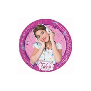 Piatti Violetta Compleanno | 8 pezzi cm 20-0