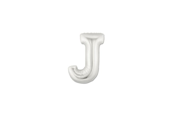"Palloncino Lettera ""J"" Mylar Silver (10 pezzi)-0"
