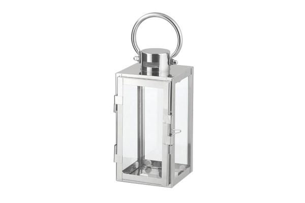 Lanterna in metallo finitura acciaio -0