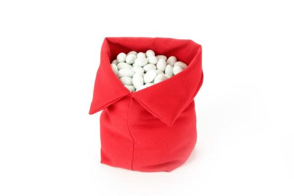 Sacco per Confettata Cotone Rosso Grande (10 pezzi)-0