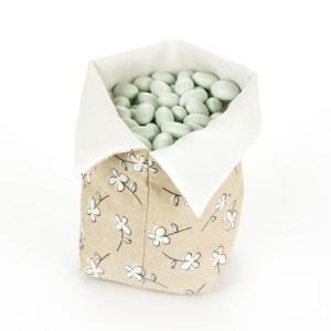 Sacco per Confettata Sabbia con margherite Grande (10 pezzi)-0