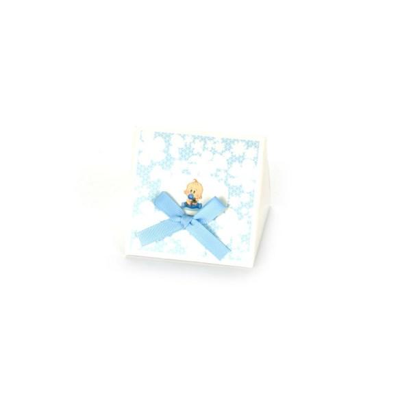 SCATOLA BABY PIRAMIDE PVC CELESTE (12 PEZZI)-0