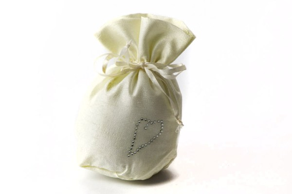 Pompon cuore avorio STOCK-0