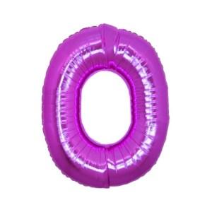 """Numero 0 Foil Piccolo H 8""""/20 cm. Fuxia (10 Pezzi)-0"""