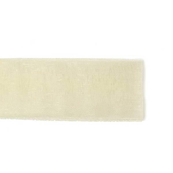Nastro Organza Panna 10 mm-0