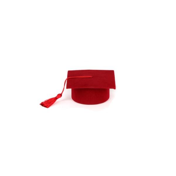 Laurea tocco Rosso Portaconfetti (24 PEZZI)-0