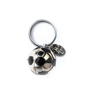 Bomboniera portachiavi metallo palla calcio