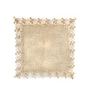 Tovaglia Quadrata in Macrame grande Naturale | 85 X 85 cm -0