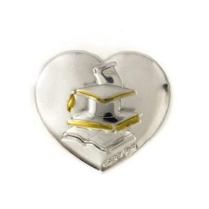 Applicazione cuore Laurea | color sabbia e oro (24 pz)-0