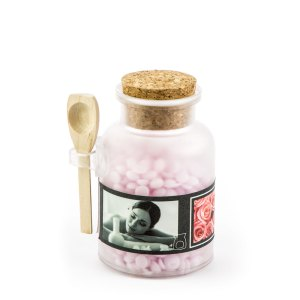 candele barattolini cera rosa - Denaro distribuzione