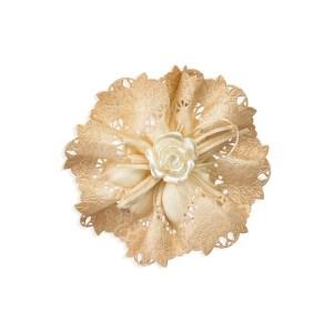 nastro portaconfetti gardenia organza sfumato nocciola