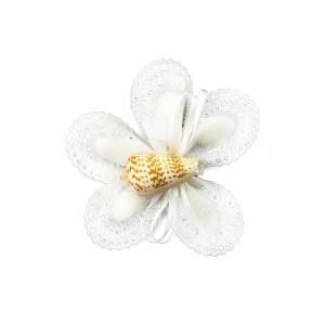 nastro portaconfetti fiore bianco