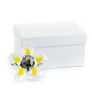 bomboniera cristallo fiore icona cresima