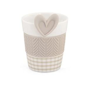 Bomboniera matrimonio mug infusore tortora cuore