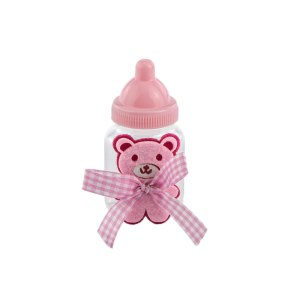 Bomboniera bottiglia biberon rosa
