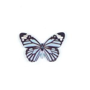 applicazione bomboniera farfalla azzurra soffa 18pezzi