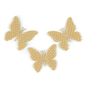 applicazione farfalla tortora a pois bianchi stoffa