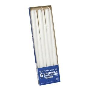 candele coniche bianche 40cm